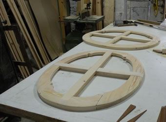 Creation of a new oval support for the canvas